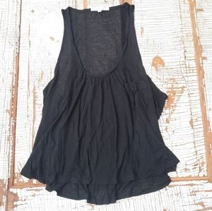 Joie soft crop tank sheer black large